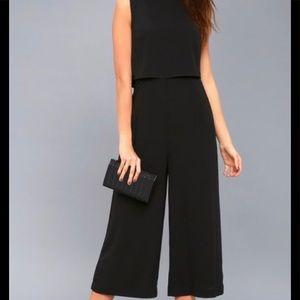 Lulus glam bitiom backless midi jumpsuit